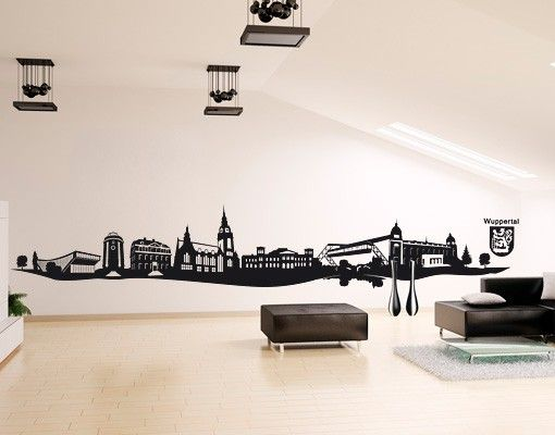 Wandtattoo Skyline No.AC10 Wuppertal Skyline