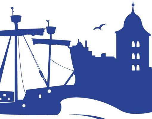 Wandtattoo Skyline No.MW11 Skyline Lübeck
