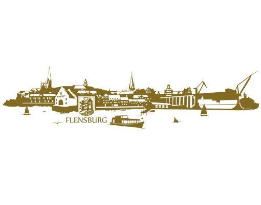 Wandtattoo Skyline No.TA90 Skyline Flensburg