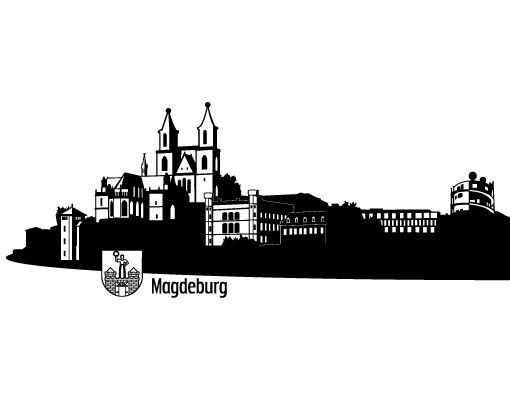 Wandtattoo Skyline No.RS1 Skyline Magdeburg