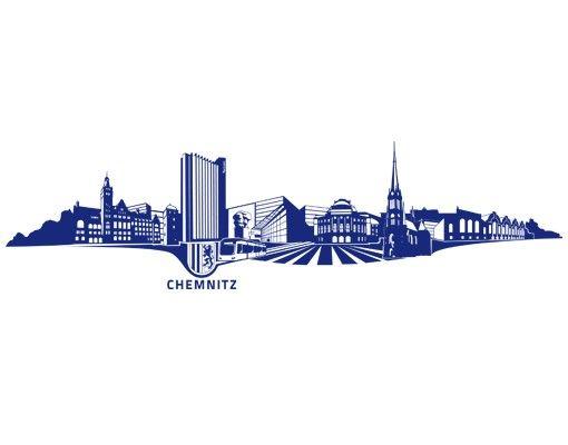 Wandtattoo Skyline No.TA91 Skyline Chemnitz