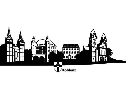 Wandtattoo Skyline No.RS2 Skyline Koblenz
