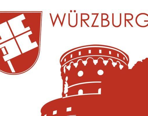 Wandtattoo Skyline No.AC12 Skyline Würzburg