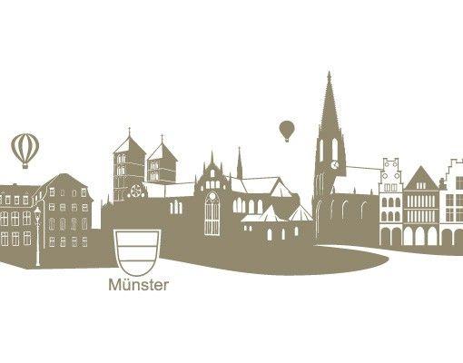 Wandtattoo Skyline No.FB44 Skyline Münster