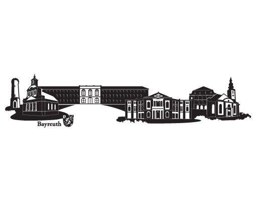 Wandtattoo Skyline No.RS6 Skyline Bayreuth