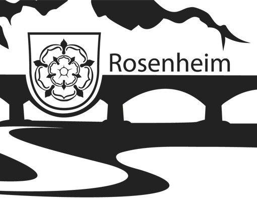 Wandtattoo Skyline No.MW15 Rosenheim Skyline