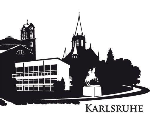 Stadt Karlsruhe - Wandtattoo Skyline - No.DS1 Skyline Karlsruhe Wandtattoo