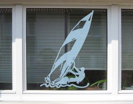 Fensterfolie - Fenstertattoo No.UL213 Windsurfer - Milchglasfolie