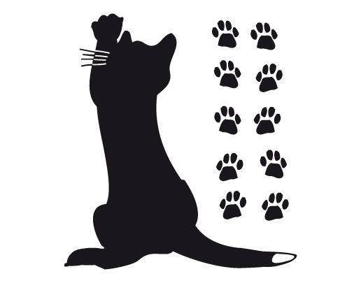 Wandtattoo Katze No.UL631 Kleine Katze