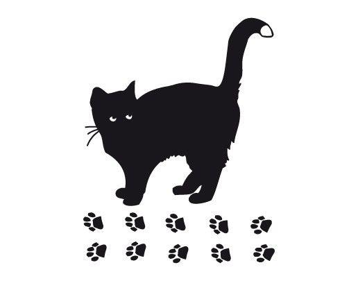 Wandtattoo Katze No.UL632 Große Katze