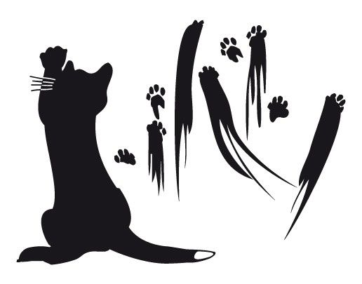 Wandtattoo Katze No.UL633 Katzenkunst