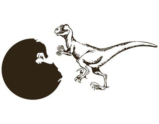 Wandtattoo Kinderzimmer Uhr No.AC18 Dinosaurier