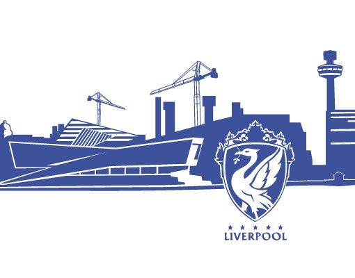 Stadt Liverpool - Wandtattoo Skyline No.FB45 Liverpool Skyline Wandtattoo