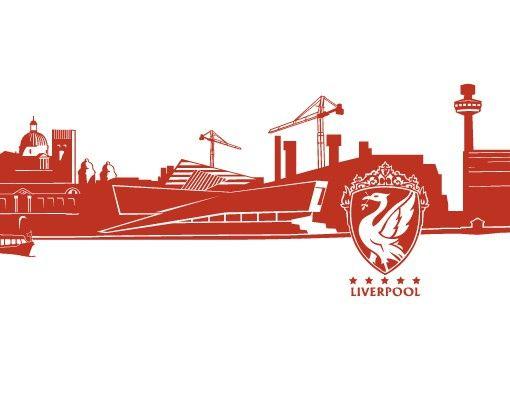 Wandtattoo Skyline No.FB46 Liverpool Skyline XXL