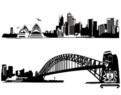 Wandtattoo Skyline No.FB49 Sydney Skyline