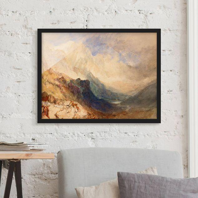 Bild mit Rahmen - William Turner - Aostatal - Querformat 3:4