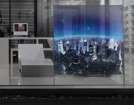 Fensterfolie - Sichtschutz Fenster Illuminated New York - Fensterbilder