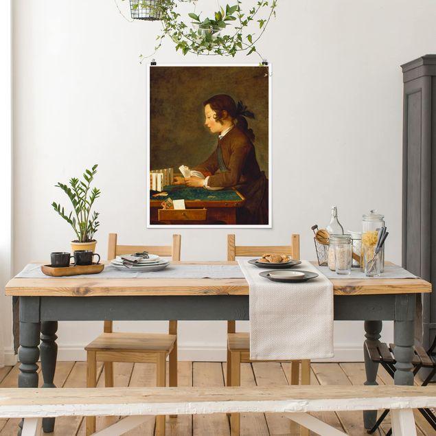 Poster - Jean-Baptiste Siméon Chardin - Junges Mädchen - Hochformat 3:4