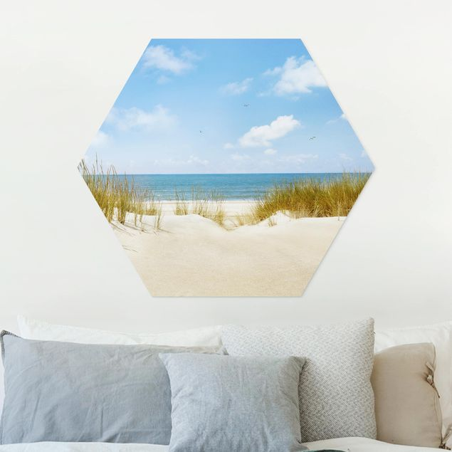 Hexagon Bild Forex - Strand an der Nordsee