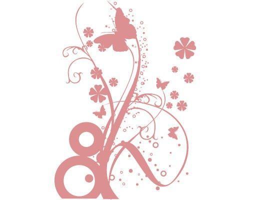 Wandtattoo Floral Schmetterling No.12 Tanzende Schmetterlinge