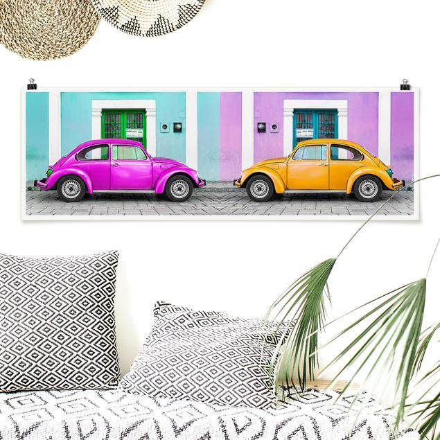 Poster - Kolorierte Beetles - Panorama Querformat