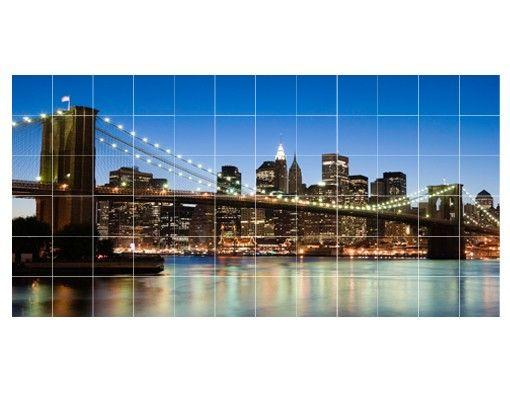 Fliesenbild - Brooklyn Brücke in New York