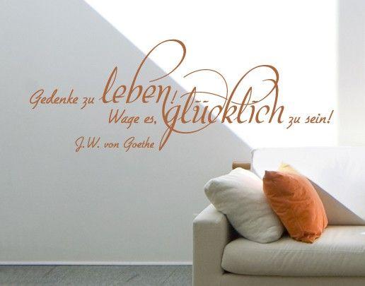 Wandtattoo Zitate - Wandzitate No.UL669 Gedenke zu leben