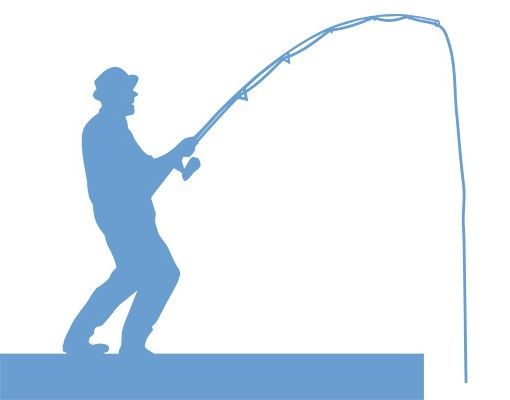 Wandtattoo Haken No.DS17 Angler II
