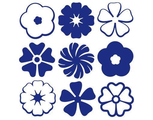 Wandtattoo Haken No.131 Neun Blüten