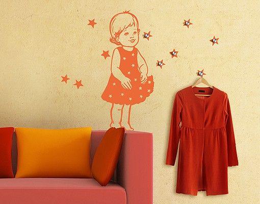Wandtattoo Babyzimmer Garderobe No.RS26 Sterntaler