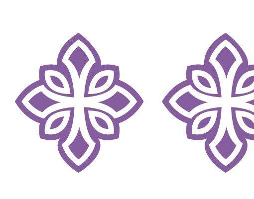 Wandtattoo Floral Haken No.FB63 Kreuz Ornament