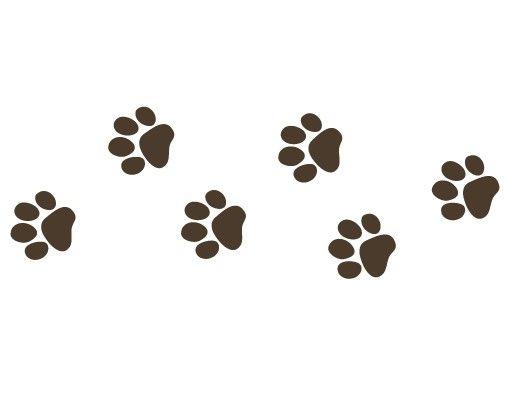 Wandtattoo Hund Katze Haken No.FB64 Pfotenabdrücke