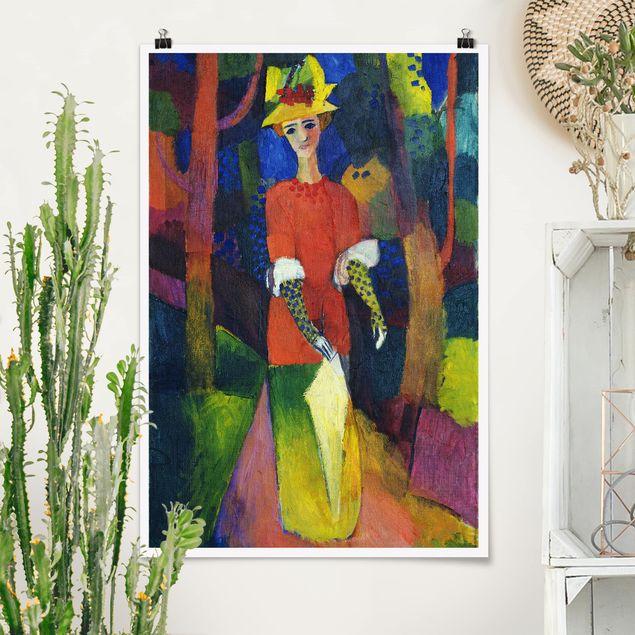 Poster - August Macke - Dame im Park - Hochformat 3:2