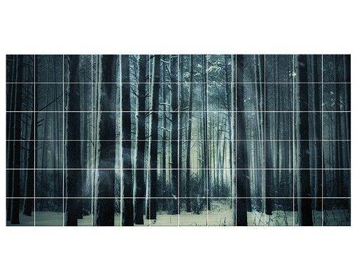 Fliesenbild - Mystischer Winterwald