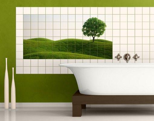 Fliesenbild - Grüne Ruhe