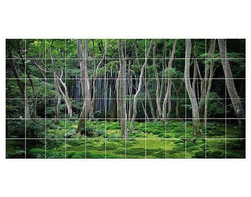 Fliesenbild - Japanischer Wald