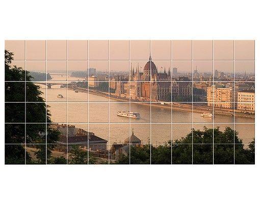 Fliesenbild - Budapest Skyline