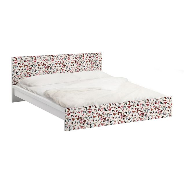 Möbelfolie für IKEA Malm Bett niedrig 180x200cm - Klebefolie Look Closer