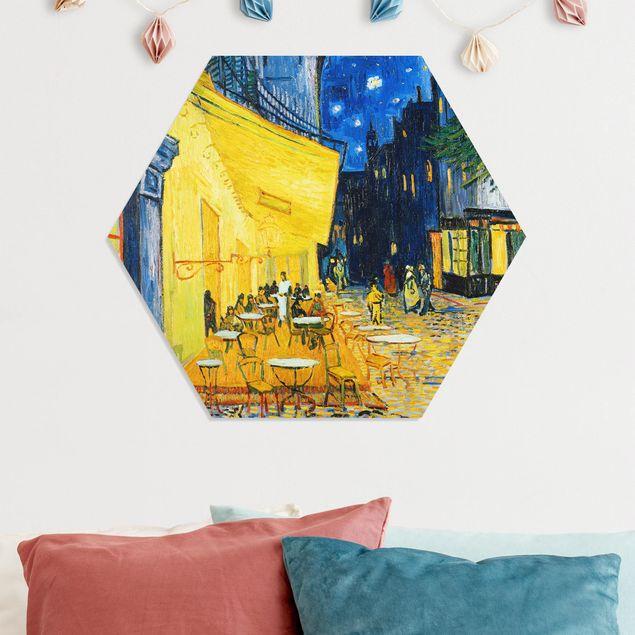 Hexagon Bild Forex - Vincent van Gogh - Café-Terrasse in Arles