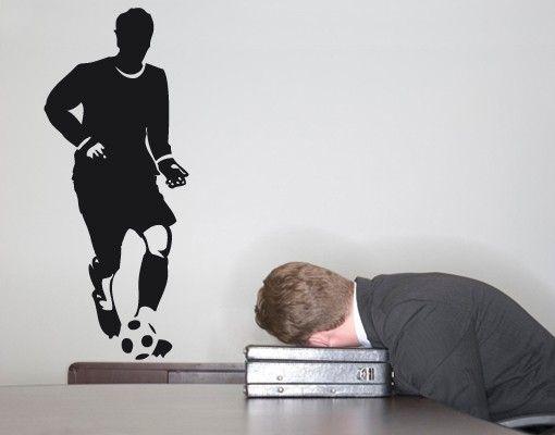 Wandtattoo Fußball - No.UL691 Fußball Links Aussen
