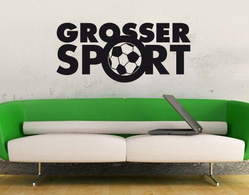 Wandtattoo Spüche - Wandworte No.UL689 Großer Sport