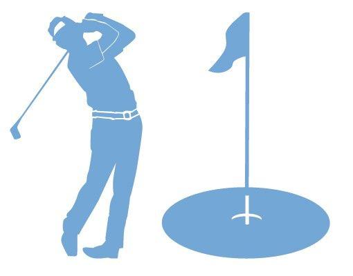 Wandtattoo Haken No.AC56 Golfer