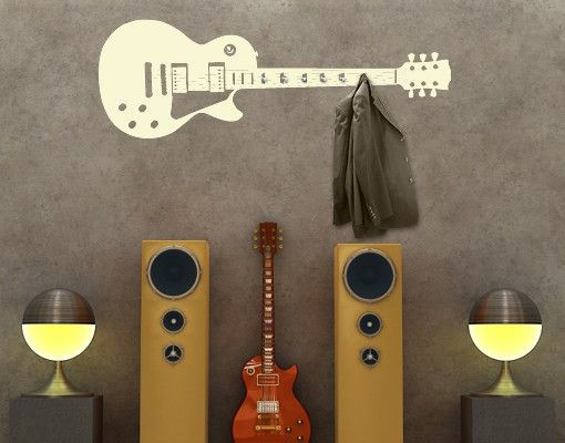 Wandtattoo Haken No.AC57 Gitarre