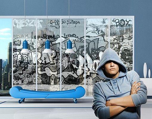 Fensterfolie - XXL Fensterbild Graffiti Art - Fenster Sichtschutz