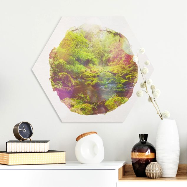 Hexagon Bild Forex - Wasserfarben - Bay of Plenty