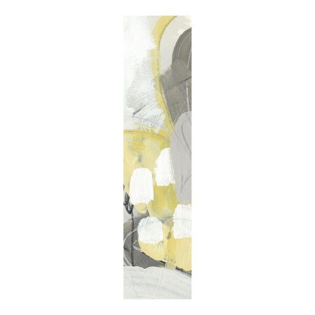 Schiebegardinen Set - Zitronen im Nebel II - Flächenvorhang