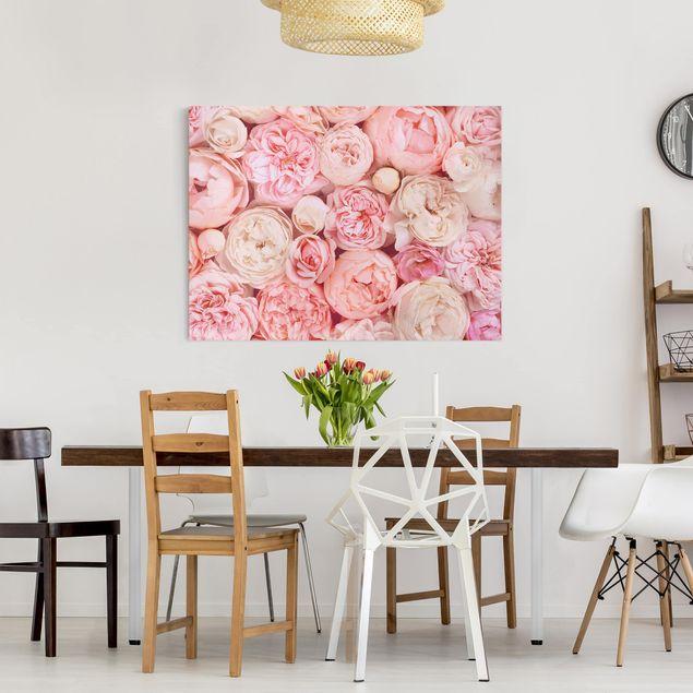 Leinwandbild - Rosen Rosé Koralle Shabby - Querformat 3:4