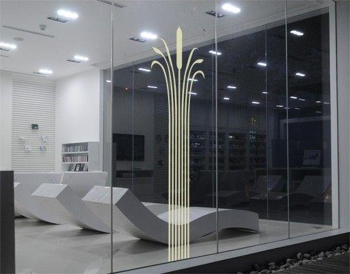 Fensterfolie - Fenstertattoo No.UL701 Schilfsäule - Milchglasfolie