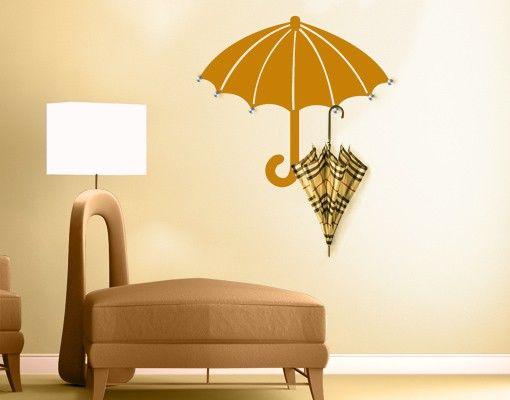 Wandtattoo Haken No.SH8 Regenschirm