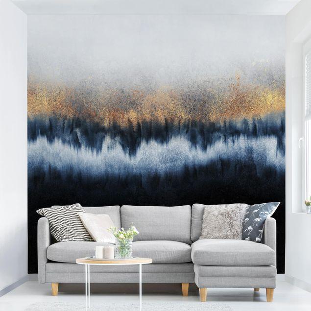 Fototapete - Goldener Horizont - Fototapete Quadrat